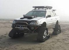 Subaru Baja on tracks