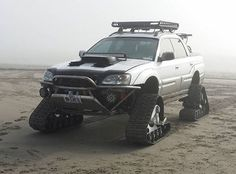 Subaru Baja on tracks
