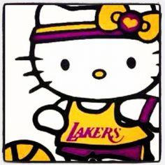 Hello Kitty go Lakers