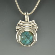 Sterling Silver Labradorite Pendant One of a by DenimAndDiaJewelry, $230.00
