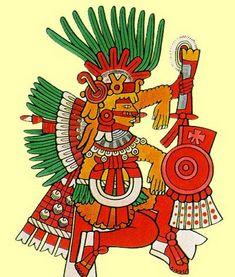 "Xipe-Totec (""the flayed one"") Mayan Tattoos, Mexican Art Tattoos, South American Art, Native American Art, Mexican Artwork, Aztec Culture, Mexico Art, Aztec Art, Renaissance"