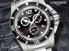 #Longines #Hydroconquest Blk face Chronograph #Quartz #Watch 41MM   Ref: L3.743.4.56.6  £873  https://www.cohenandmassias.com/product/longines-hydroconquest-blk-face-chronograph-quartz-watch-41mm-l3-743-4-56-6/