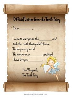 tooth fairy letter tooth fairy letter template letter templates tooth fairy receipt tooth
