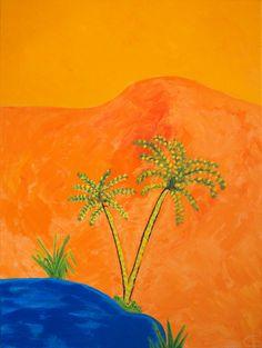 Waha (2008) - 70cm x 100cm - acrylic on canvas - Modern Art by British Artist Chris Billington