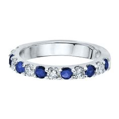1/2 ct. tw. Diamond & SAPPHIRE BAND IN 14K GOLD #HelzbergDiamonds #AisleStyle #Entry