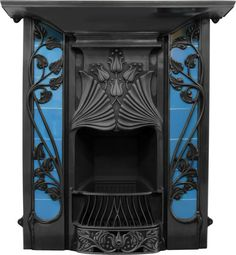 Art nouveau fire place ~ MON PLAISIR ~ Things for the soul. Vintage, Provence. | VK