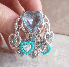 Blue Heart Clip On Earrings Art Arthur Pepper Mode by cutterstone, $15.00