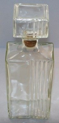 Vintage Rectangular Liquor Whiskey Bottle Decanter Cool Bar Display Thatcher Manufacturing Co