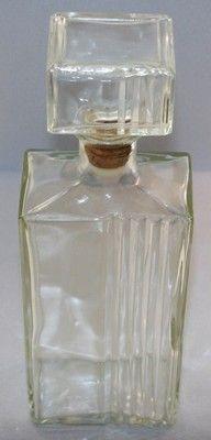 Vintage Rectangular Liquor Whiskey Bottle Decanter Cool Bar Display Thatcher Manufacturing Co
