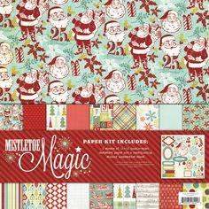My Mind's Eye - Mistletoe Magic Collection - Christmas - 12 x 12 Paper Kit at Scrapbook.com