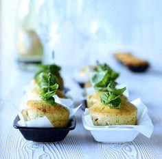 Basil, sheep milk cheese & walnuts muffins.