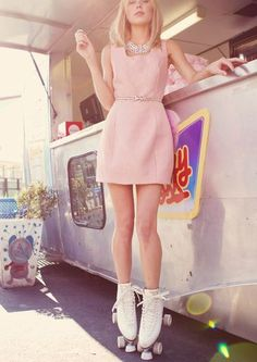 Roller skates and pastel pink! I honestly need roller skates so bad! pinterest.com/alexandraahodge