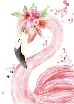 Flowers Crown Drawing Beautiful Ideas For 2019 Flowers Crown Drawing Beautiful Ideas For 2019 Flamingo Painting, Flamingo Art, Pink Flamingos, Flamingo Drawings, Art Watercolor, Watercolor Animals, Flower Crown Drawing, Drawing Flowers, Pink Drawing