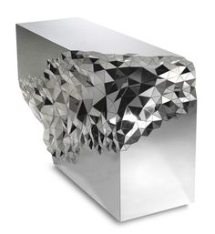 Not at all a typically table, Stellar Console Table will definitely remain in our memory as a unique piece of furniture. With an extravagant and sparkling appearance, this spectacular console table envisioned by Jake Phipps combines geometric Design Furniture, Art Furniture, Unique Furniture, Furniture Storage, Console Design, Amethyst Geode, Mirrored Furniture, Contemporary Interior, Contemporary Stairs