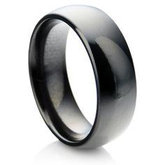 Polished Black Zirconium ring