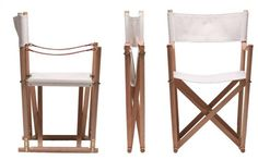 10 Easy Pieces: Folding Camp-Style Chairs : Remodelista | The ultimate in outdoor elegance: the Folding Chair by Mogens Koch was designed in 1932 and is made of oil-treated beech and mahogany with brass fittings and a nautral canvas cover. For dealer information, go to Rud Rasmussen.