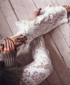 Hippie Bohéme Boho Bohemian Gypsy Style. Lace Palazzo Pants. For more follow www.pinterest.com/ninayay and stay positively #inspired