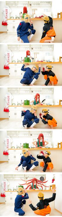 IF - YUURI(尤狸) Kushina Uzumaki, CELES(セリス) namikazeminato, 56(gomu) Naruto Uzumaki Cosplay Photo - Cure WorldCosplay