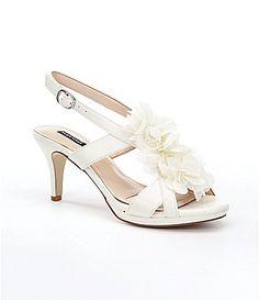 "Alex Marie, Ava women's dress sandals Item #04463086  beaded floral accent Cloud White 2.75"" heel http://www.dillards.com/product/Alex-Marie-Ava-Dress-Sandals_301_-1_301_505192864?df=04463086_zi_cloud_white"