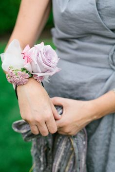 We adore a sweet wrist corsage. Photography by AriellePhoto.com, Floral Design by Mary Lou Pappas Flowers