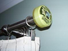 skateboard bedrooms curtain rail end