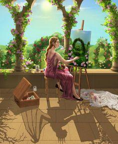 A pintura era uma mentira ... brilhante e linda ...