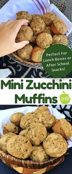 These Mini Zucchini Muffins are the perfect after school snack. Made with whole … These Mini Zucchini Muffins are the perfect after school snack. Made with whole wheat flour, they are a healthy snack for kids any time of the day. Healthy Muffins For Kids, Healthy Zucchini Muffins, Best Zucchini Bread, Healthy Afternoon Snacks, After School Snacks, School Lunches, Healthy Snacks For Toddlers, Snack Ideas For Kids, Healthy Kids Snacks For School