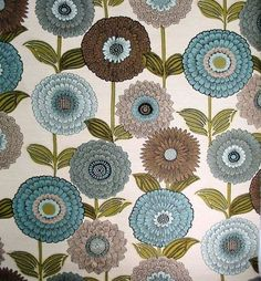 6915712 IN BLOOM TURQUOISE Jacquard Fabric