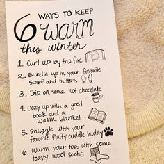 Ways to keep warm this winter