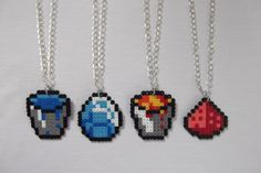 minecraft tools - perler bead pattern used with fuse beads, hama beads and perler beads