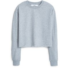MANGO Cotton Sweatshirt ($23) ❤ liked on Polyvore featuring tops, hoodies, sweatshirts, sweaters, shirts, sweatshirt, longsleeve shirt, blue top, round top and blue long sleeve shirt