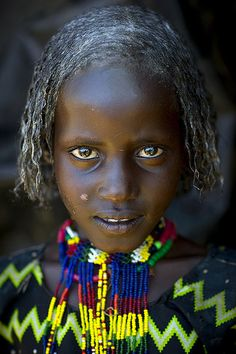 Borana Tribe Girl With Butter On Her Hair, Yabelo, Ethiopia