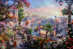 Thomas Kinkade Disney | The images of this artwork are for illustration purposes only. Yours ...