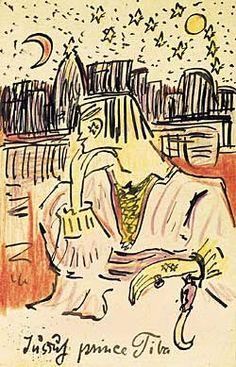Else Lasker-Schüler, Jussuf Prince Tiba, 1913
