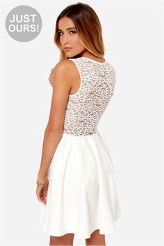 8a63564e0c48 Graceful and oh-so charming, our Lace Your Steps White Dress is a sassy  number .