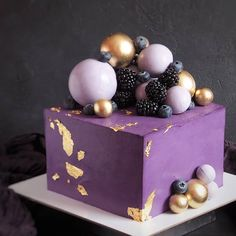 Photo by Ame-Yummy's collection of food in New York, New York with and Creative Desserts, Fun Desserts, Square Birthday Cake, Cake Design For Men, Artist Cake, Elegant Birthday Cakes, Gateaux Cake, Square Cakes, Birthday Cake Decorating