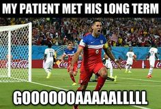 My patient met his long term goooaaal! SO FUNNY | world cup occupational therapy meme