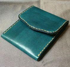 MONEDERO de cuero (verde turquesa)