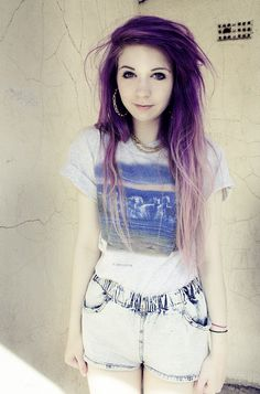 purple ombre- This is what I want to do to my hair!!