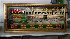 Digiatal hours of the mosque Digital Clocks, Digital Wall, Prayer Times, Time Clock, Mosque, Quran, Masjid, 2019 Calendar, Holy Quran