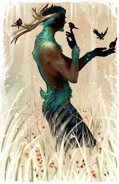 Oh my. What a winter faun that is.   Aanbieding by Amdhuscias.deviantart.com