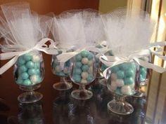 Baby shower: centros de mesa con dulces y bombones | Blog de BabyCenter por @Erika Cebreros