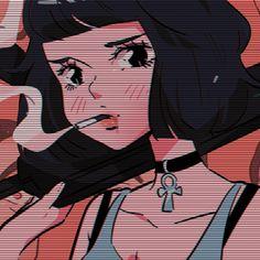 Anime Girlxgirl, Dark Anime, Anime Art Girl, Manga Art, Aesthetic Art, Aesthetic Anime, 8bit Art, Cartoon Profile Pictures, Animated Icons