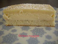 Bolo de Magia - Este bolo mágico feito em torno da blogosfera e tem sido um tempo desde que eu queria experimentar. Está feito e estou satisfeito com o resultado! Por mágica, você pergunta? Porque com uma preparação depois de cozinhar um bolo obtido com três camadas: uma camada de bolo, uma camada de nata e uma camada de creme. Um delicioso e fresco bolo incrível, exorto-vos a testá-lo em casa, foi devorado em nenhum momento.