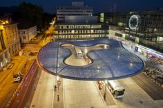 Gallery of Aarau Bus Station Canopy / Vehovar & Jauslin Architektur - 1