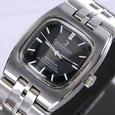 1970s Vintage Omega Constellation Chronometer Automatic Black Dial Women's Watch | eBay
