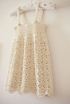 Delicate crochet dress pattern..size 9 mos-5 yrs. @ DIY Home Ideas