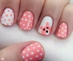nail art 2014 Summer 2014 Nails I want an owl instead of a bear