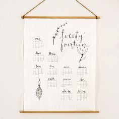 It's not too late to dress up your walls for 2014 with this pretty DIY linen wall calendar!