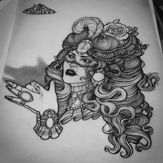 NeoTraditional Tattoo Flash Art | Neo Traditional TattooSketch by Mogurikyan